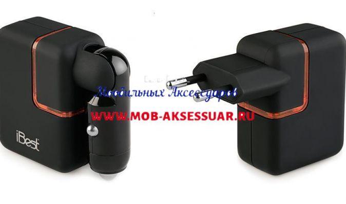 УЗУ на 2 USB 5В(500 мА) iBest CU-01IU2 черный